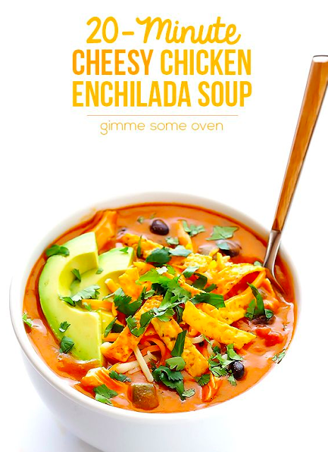 Cheesy Chicken Enchilada Soup