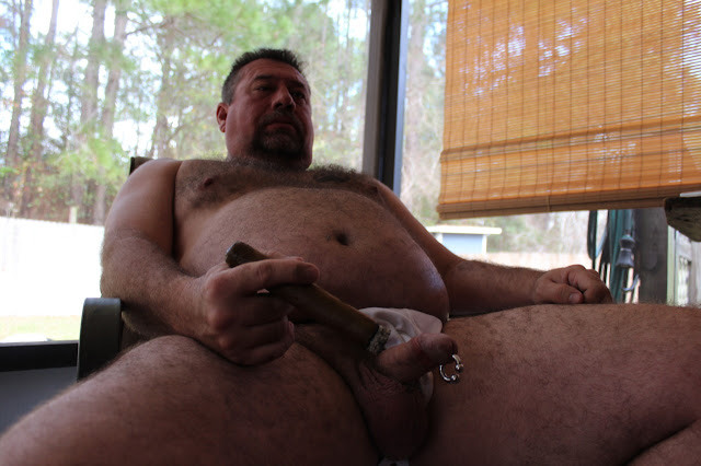 Beargarplay007 Hot Hairy Bear Plays with his Cock