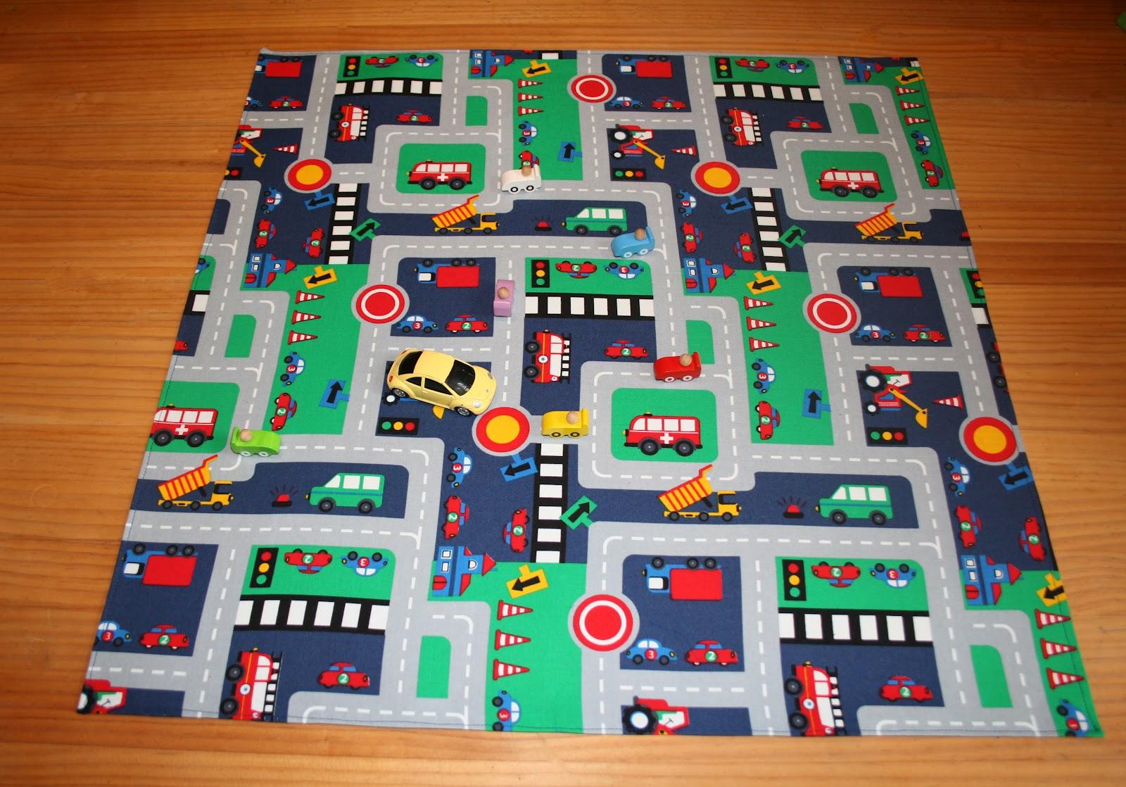 Spielteppich Nähen alles selbstgenaeht spielteppich autostrasse aus stoff