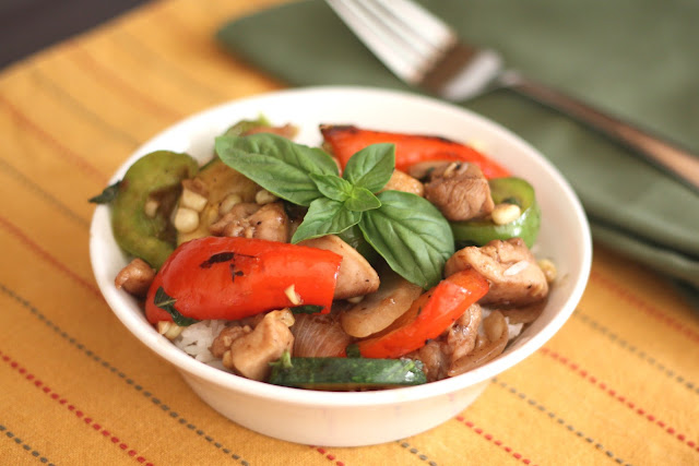 Italian Balsamic Chicken Stir Fry recipe by Barefeet In The Kitchen