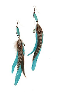 Navajo Feather Earrings