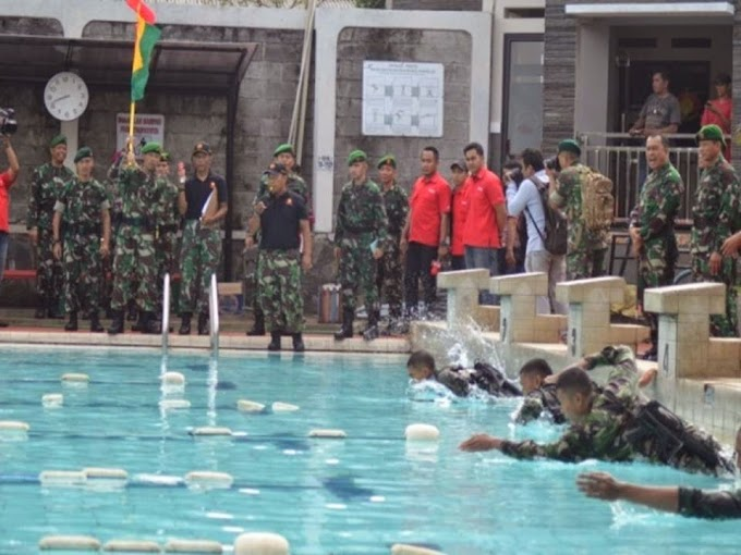Pangdam Jaya Buka Lomba Renang Militer Brigif I PIK/JS