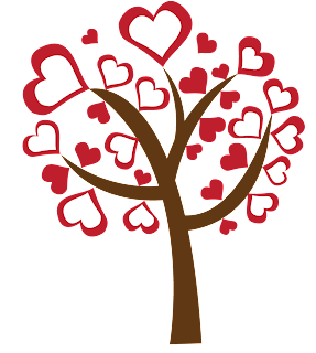 love heart tree free downnload png scrapbooking valentine's day art