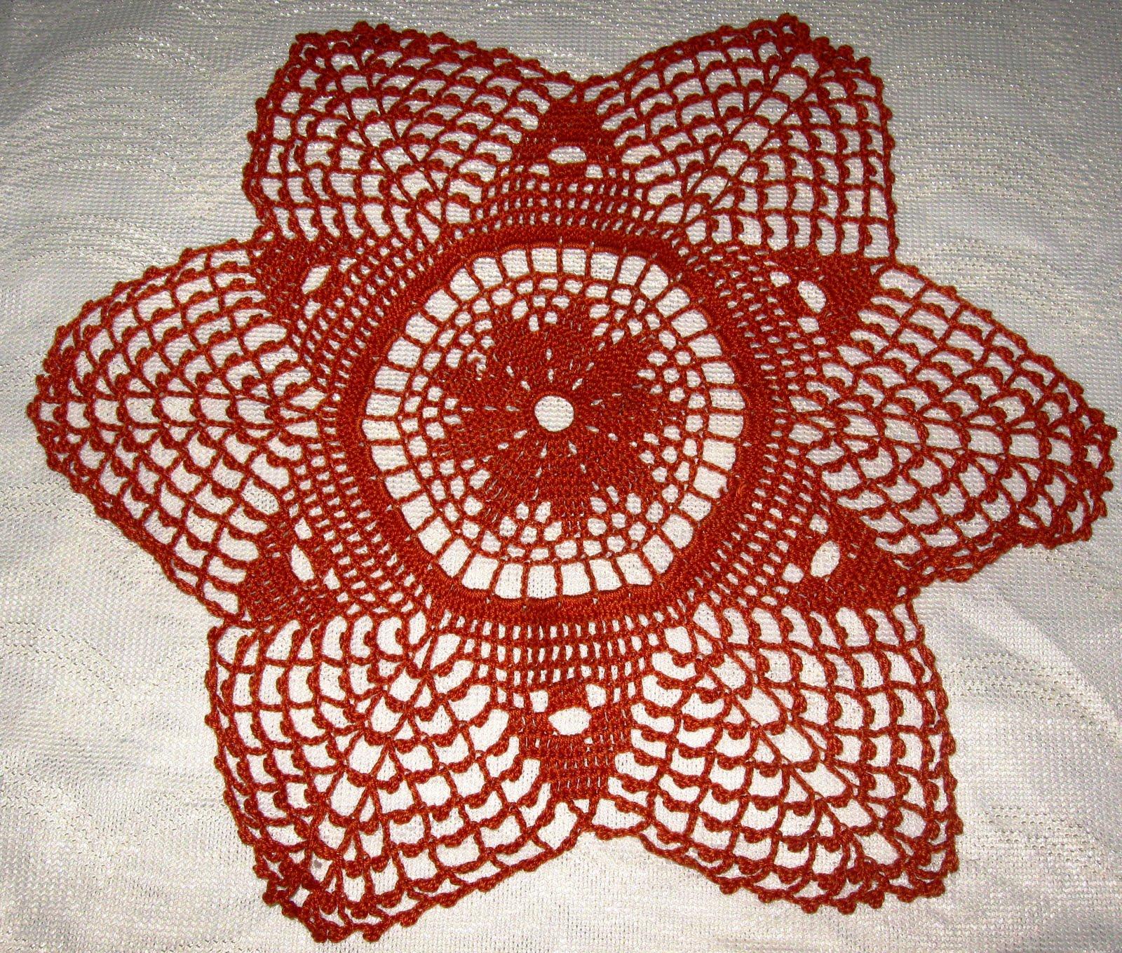 Tapete tejido a crochet color crema (TAPCrema) Tapete tejido a crochet