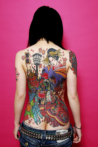 Full tattoo body art design