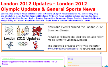 UK Sports News & London 2012 Olympic Diary