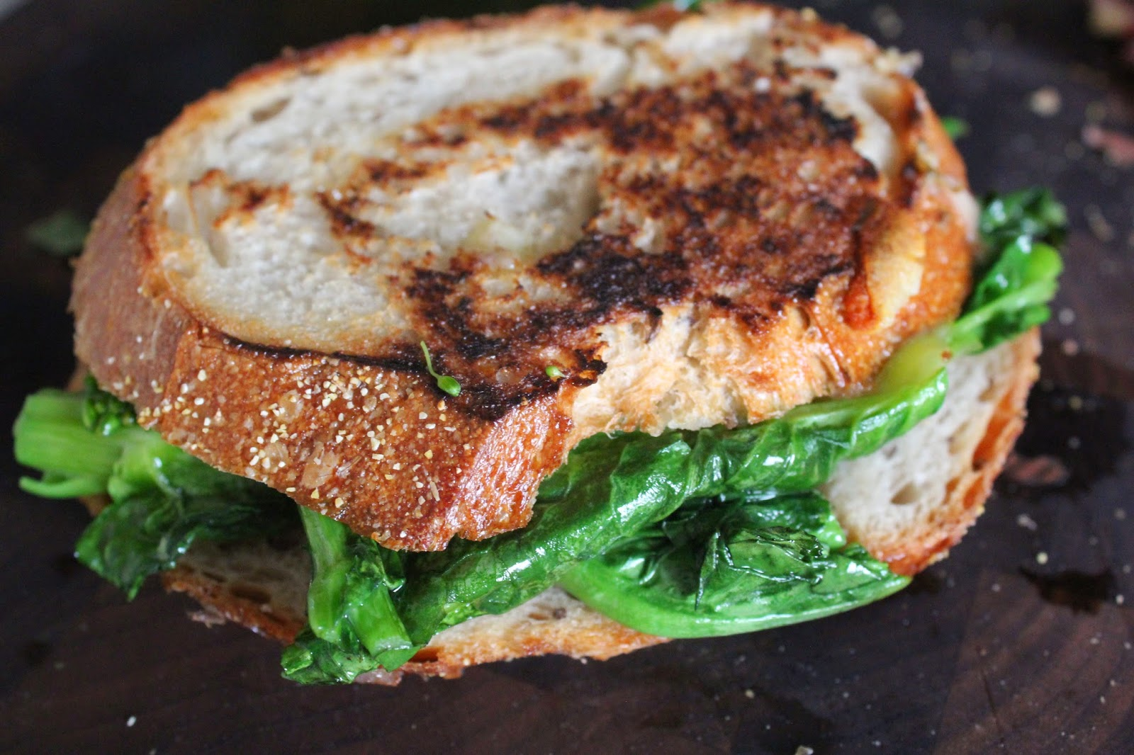 Broccoli Rabe Three Ways: Broccoli Rabe and Vivace Grilled Cheese