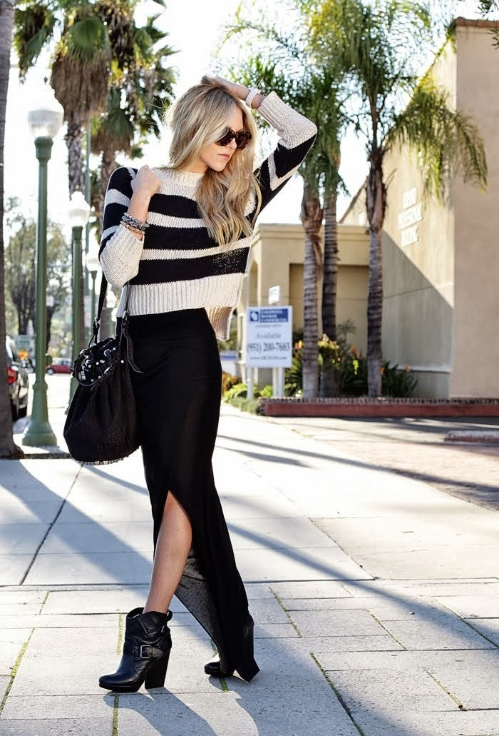 how to wear a maxi skirt for fall girlbelieve