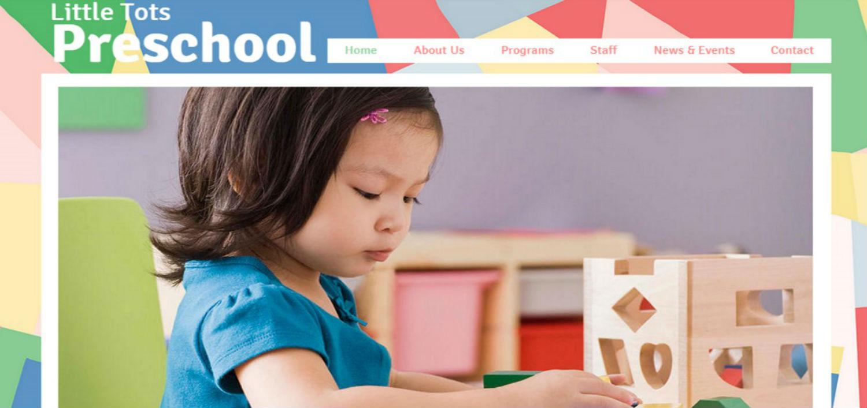 Preschool Little Tots Template Blogger