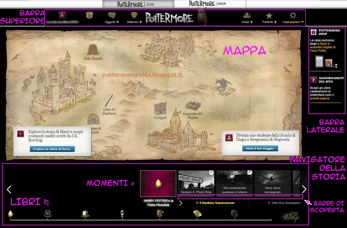 Home page di Pottermore
