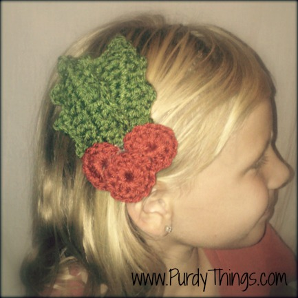 Free crochet hair clips and hair elastic pattern