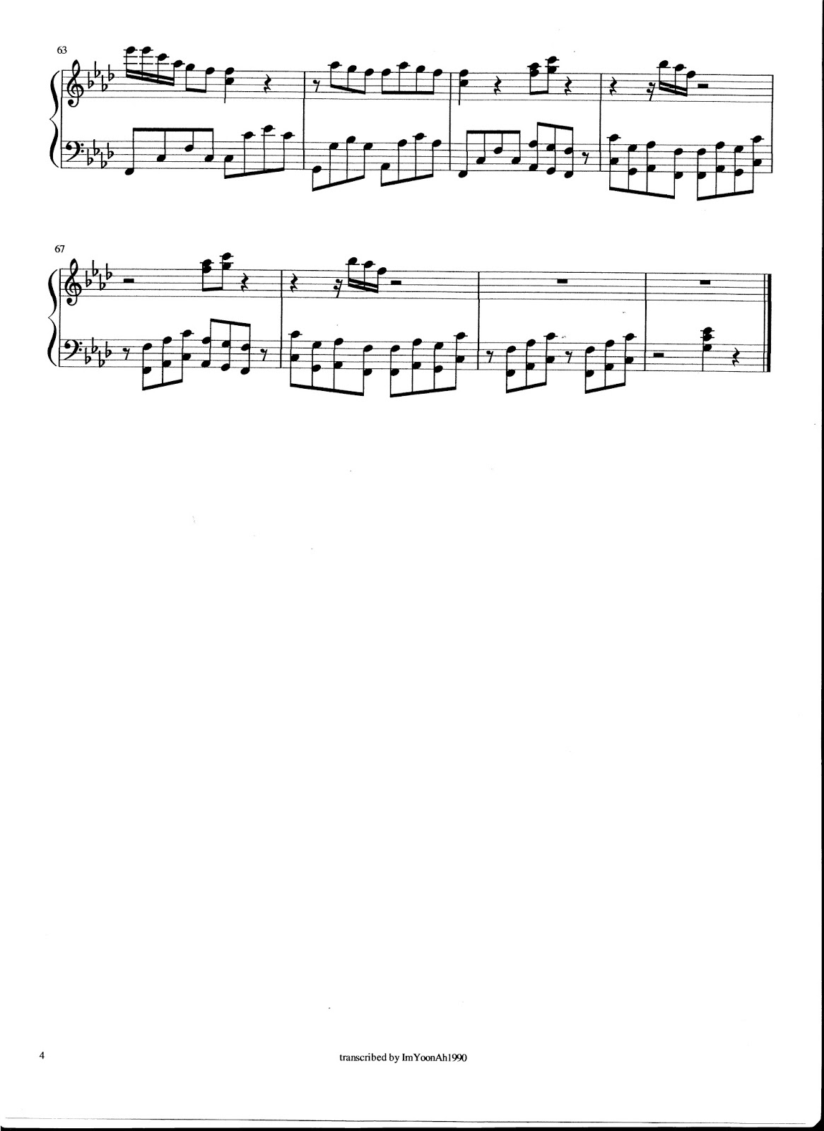 korean drama piano sheet pdf