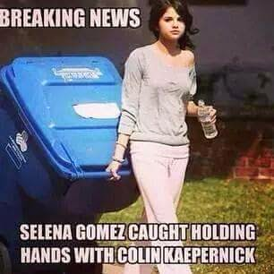 breaking news selena gomez caught holding hands with colin kaepernick