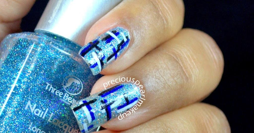 Preciouspearlmakeup Tweed Nail Art And Tutorial