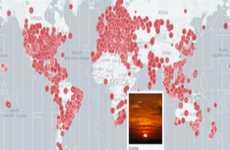 Fotos del amanecer y el atardecer tomadas en Instagram en todo el mundo en un mapa online