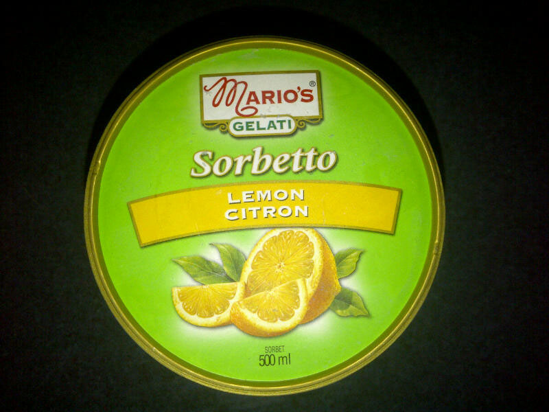 Two Girls, One Scoop: Review: Mario's Lemon Sorbetto