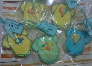 Fancy cookies baby rompers transport