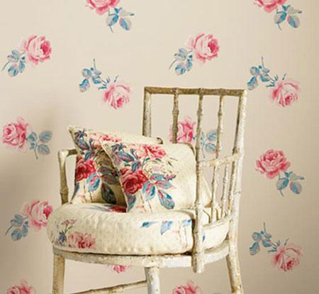 D co tableau personnaliser son int rieur comme dans un cottage anglais des motifs r tro chic - Decoration interieur anglais ...