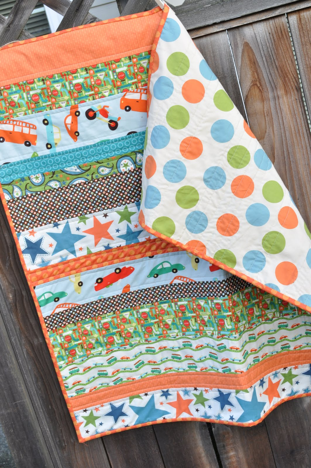 Baby Quilt Patterns For Boy : easy argyle baby quilt {tutorial} Little Birdie Secrets