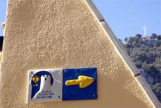 Señal en Jaén del Camino Mozárabe
