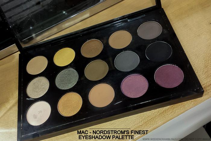 MAC - Nordstrom's Finest Eyeshadow x 15 Palette - Swatches