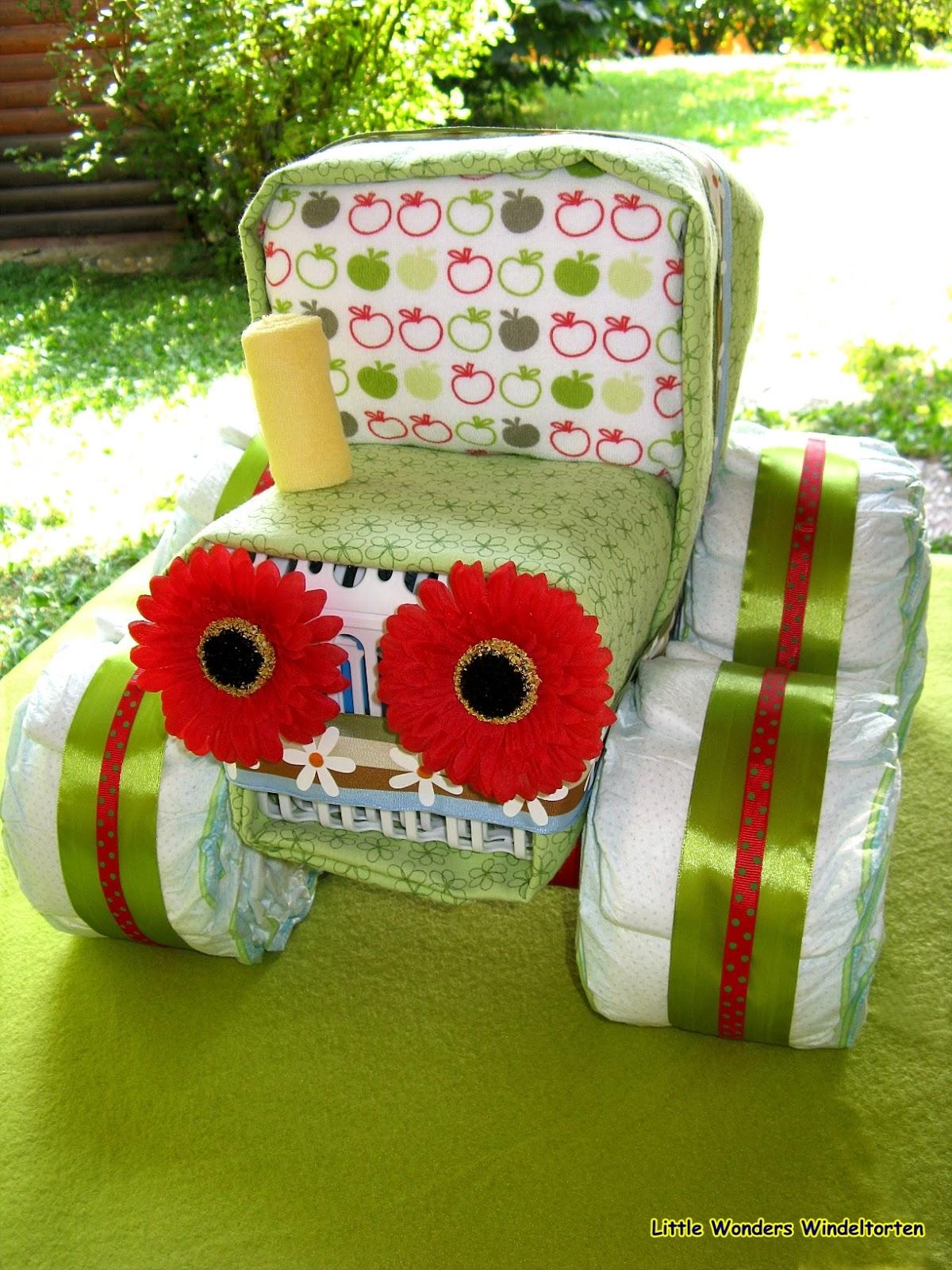 little wonders windeltorten der gro e gr ne traktor. Black Bedroom Furniture Sets. Home Design Ideas