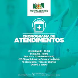 Cronograma de Especialidades Médicas - Agosto
