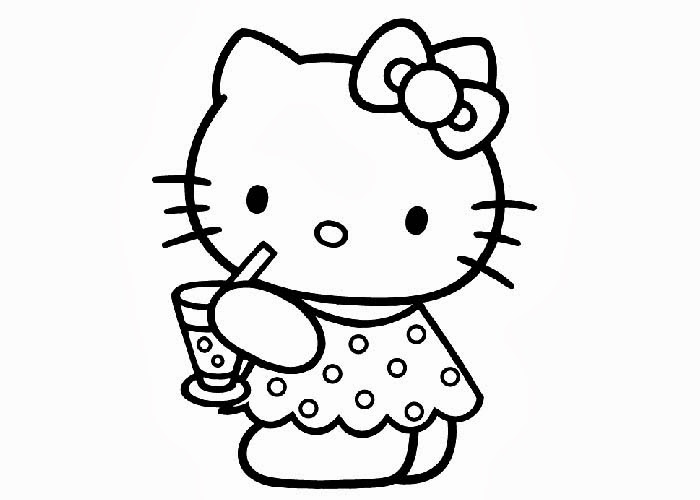 Hello Kitty Coloring Sheet Free Coloring Pages And