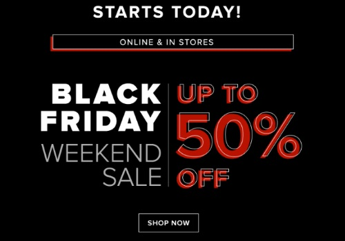 Hudson's Bay Black Friday Weekend Sale Up To 50% Off