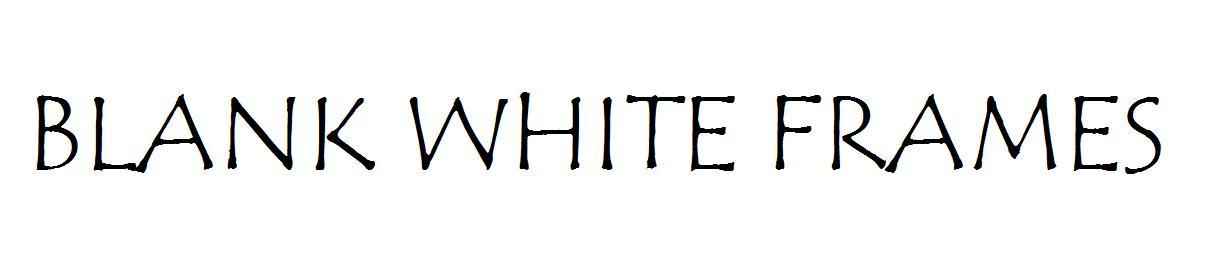 BLANK WHITE FRAMES