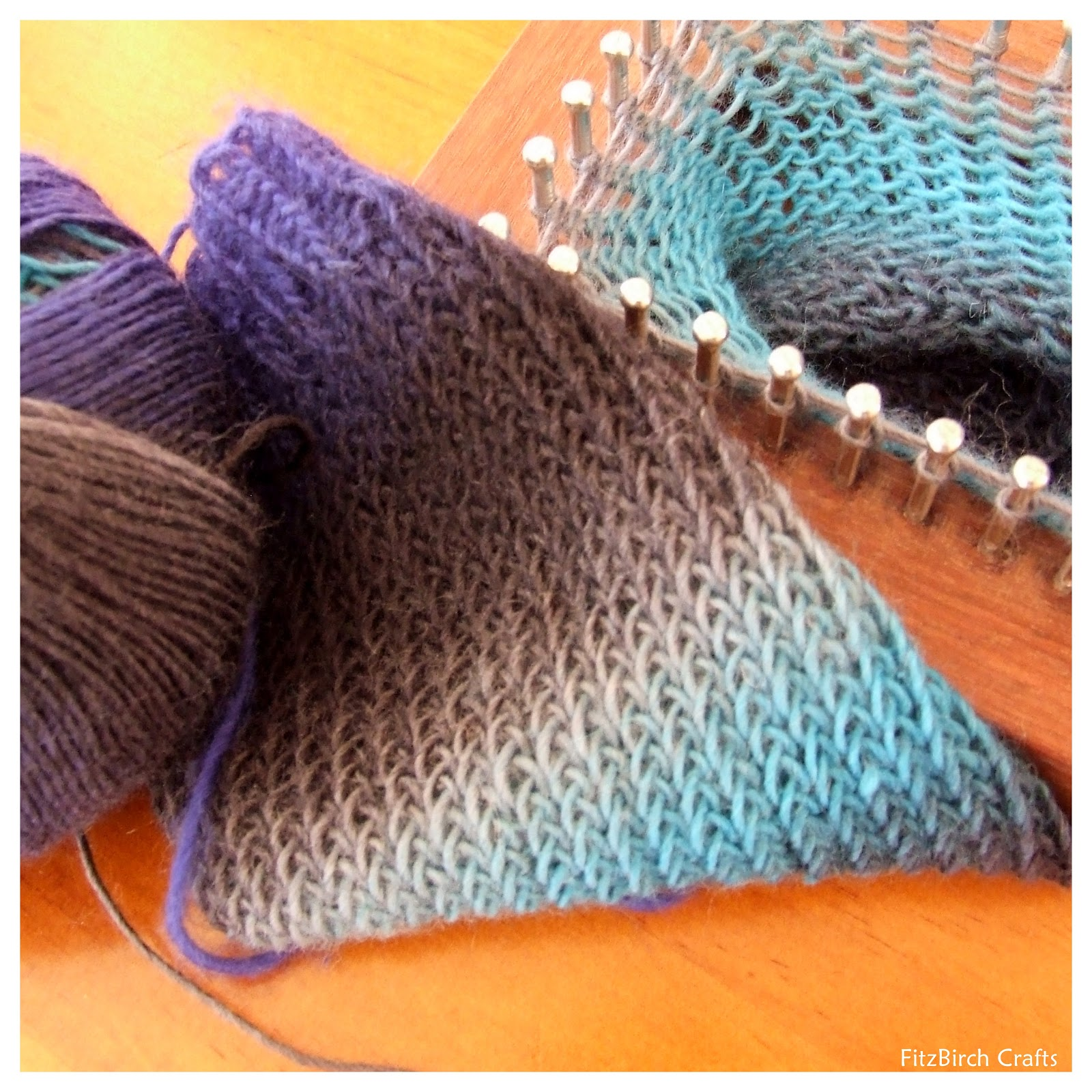 FitzBirch Crafts: Loom Knit Socks