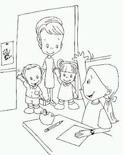 Dibujos del Dia del Maestro para Pintar, parte 2