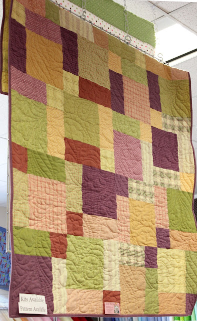 Split Nine Patch quilt