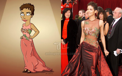 Halle Berry simpsons wartis+kartun Tokoh tokoh selebriti dalam serial kartun The Simpson