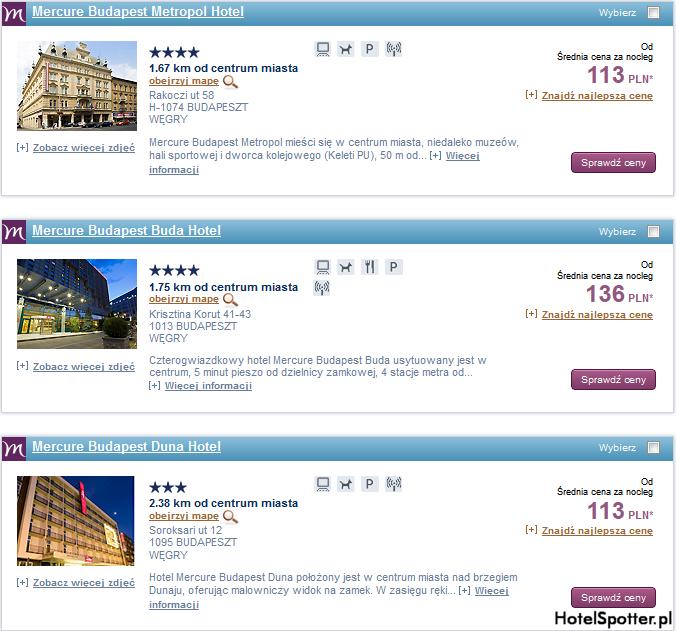 Tanie hotele Accor - Budapeszt Węgry