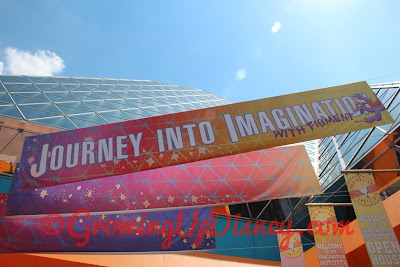 Journey into Imagination with Figment sign at Epcot