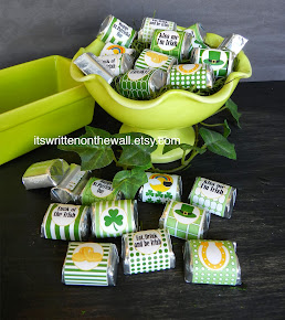 St. Patrick Day Hershey Nugget Wraps