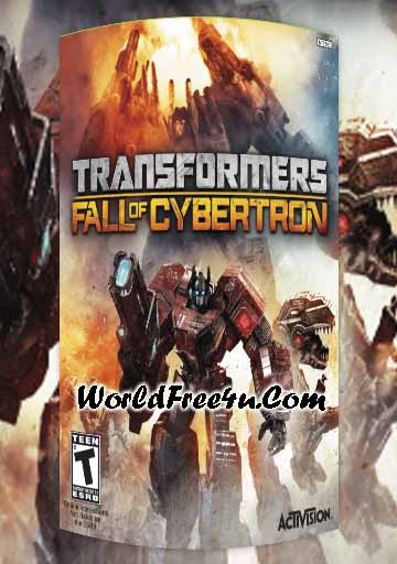 Cover Of Transformers Fall of Cybertron Full Latest Version PC Game Free Download Mediafire Links At worldfree4u.com