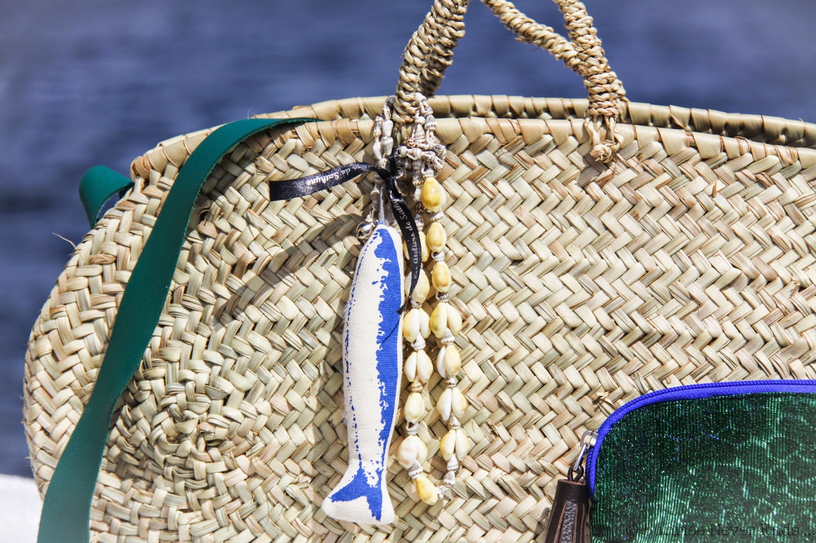hello riviera,saint jean cap ferrat,bensimon,atelier de sathyne,bleu,panier,pochette,sac