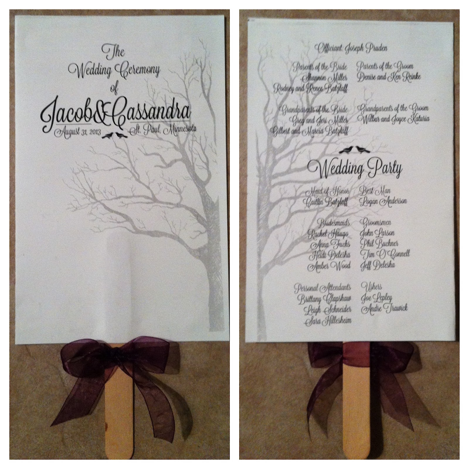 Free Wedding Program Fan Template Wedding program fans