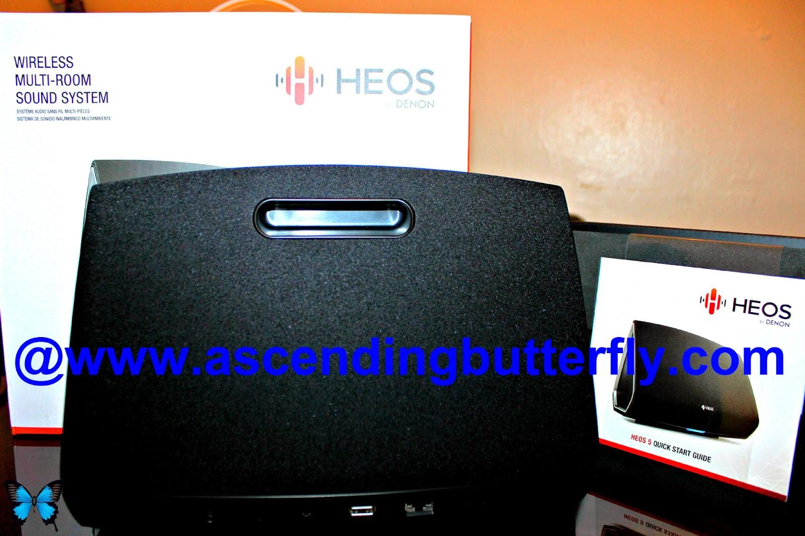 Denon HEOS 5 Multi-Room Wireless Sound System, Portable Speaker, Music System