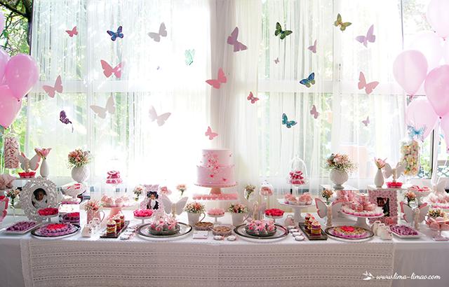 decoracao de aniversario jardim das borboletas:Borboleta Voa Voa! 1º aniversário e batizado da Lia