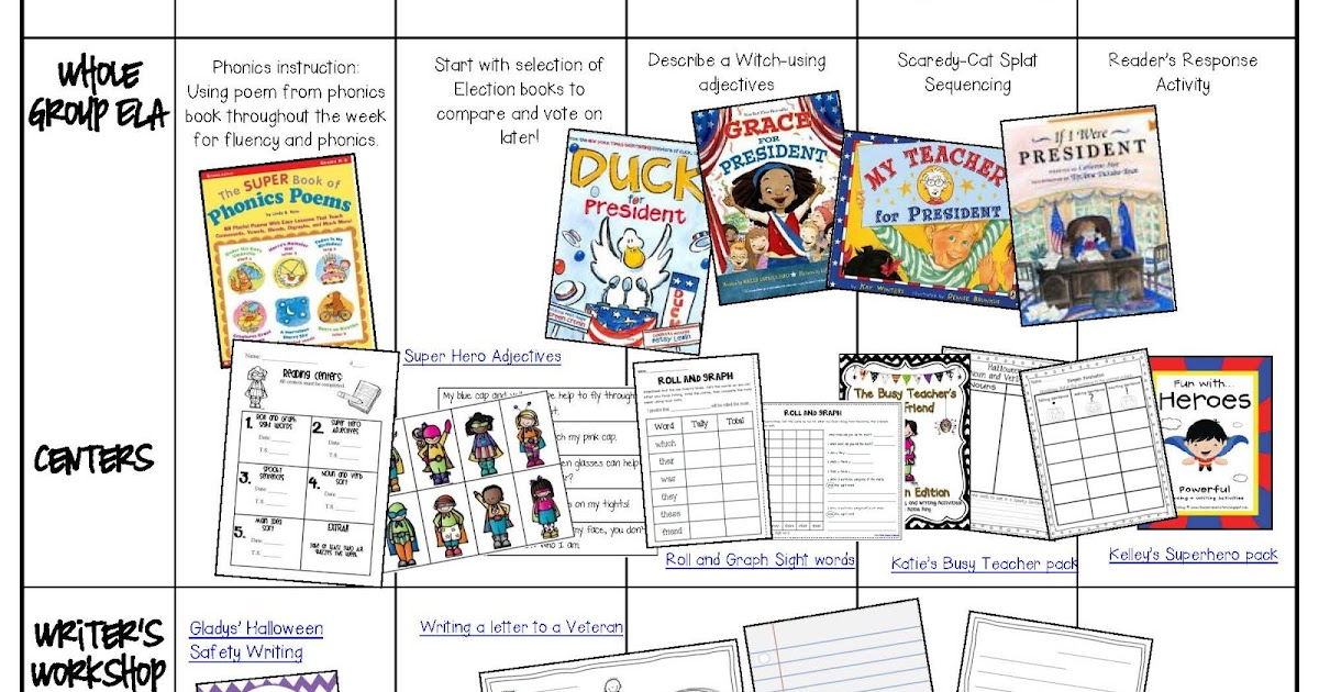 Election Week - Hodgepodge Visual Plans - Teacher by the Beach