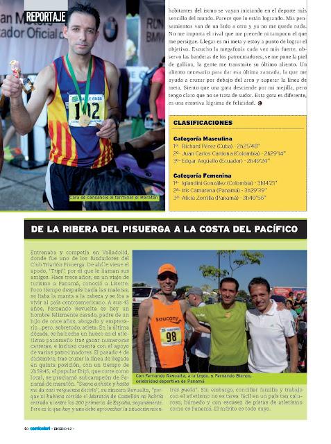Fernando Revuelta subcampeon maraton de Panama