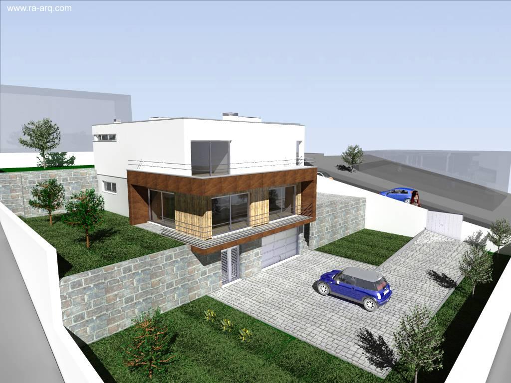 Arquitectura de Casas: Moderna casa en desnivel estilo Contemporáneo.