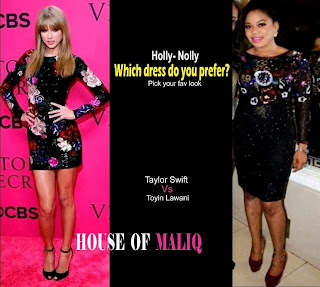 Nooly Vs Holly ; Taylor Swift Vs Toyin Lawani in Zuhair Floral Dresses ?
