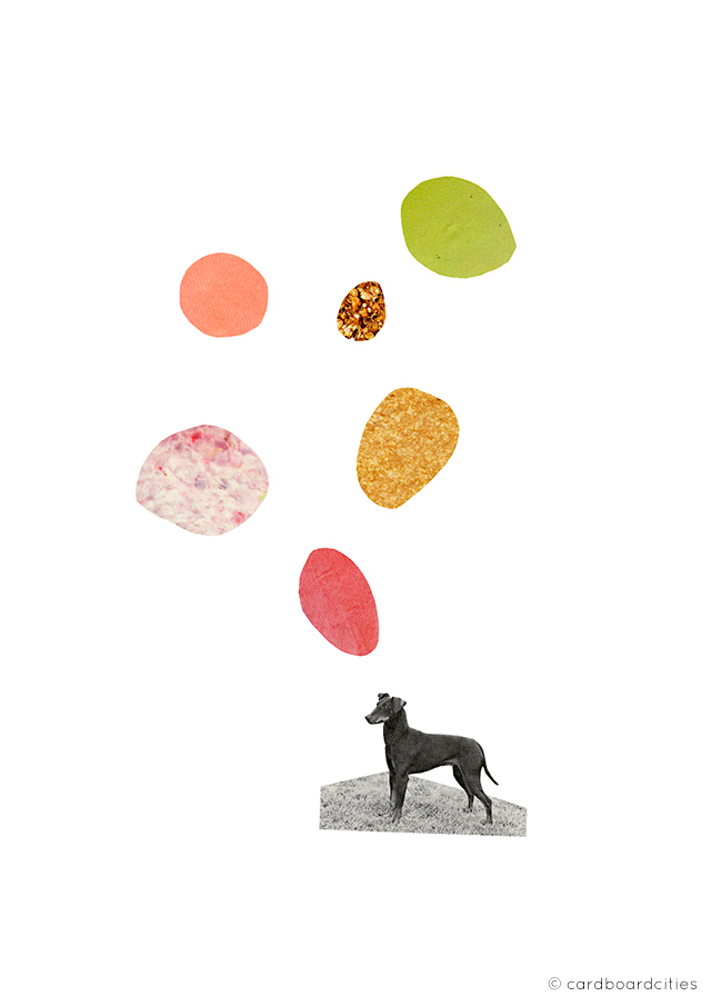 'the thinking dog' - a collage by laura redburn