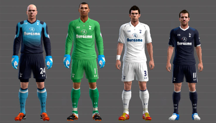 PES 2012 Tottenham 12 13 Kit Set by Lucas RK