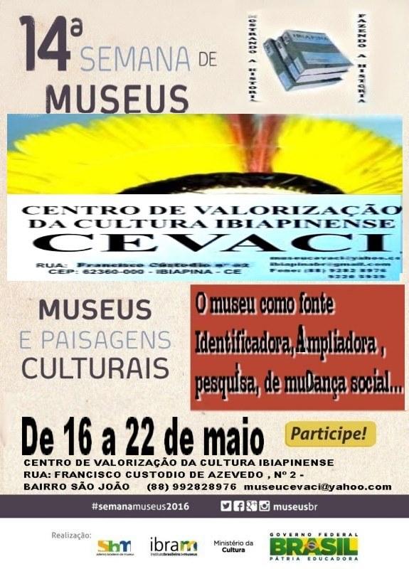 14ª SEMANA NACIONAL DE MUSEUS   Museus e paisagens culturais