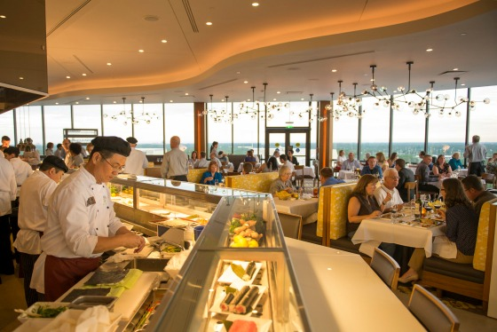 Open Kitchen And Sushi Bar At California Grill